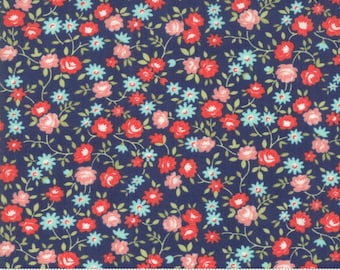 Early Bird Navy Rosie by Bonnie & Camille for Moda Fabrics (55194 15) - Cut Options Available
