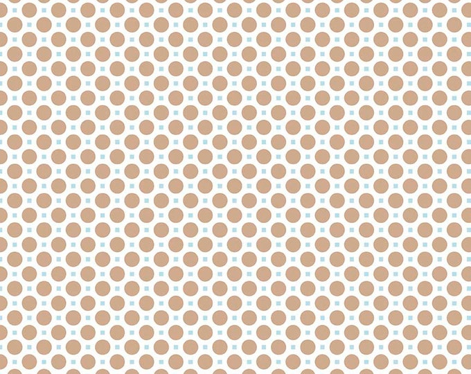 Sew Cherry 2 By Lori Holt Circle Nutmeg (C5805-Nutmeg)
