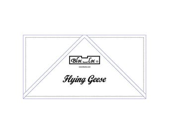 "Bloc Loc - Flying Geese Ruler  3"" x 6"" - Quilting Tool"