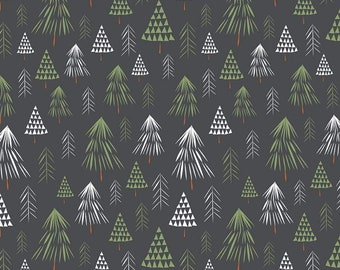 In The Forest Gray Trees Yardage by Riley Blake Designs (C8951-GRAY)  - Cut Options Available