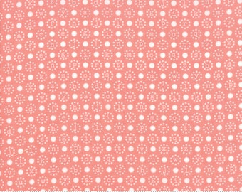 Sugarcreek Coral Letter Polka by Corey Yoder (Little Miss Shabby) for Moda (29074 12)