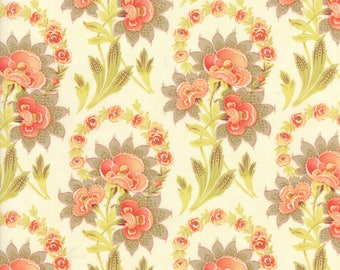 Hazel and Plum SALE (20290 17) Cream Harvest Bouquet by Fig Tree & Co. - 3/4 yard remnant