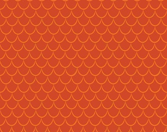 Dragons Scales Orange (C7666-ORANGE) by Ben Byrd from Dragons for Riley Blake Designs
