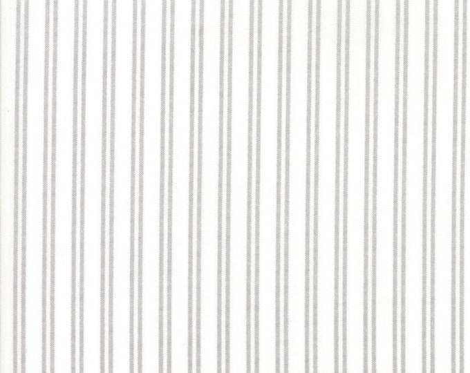 Lella Boutique Nest Farmhouse Stripe - Eggshell (5066 11) by Lella Boutique for Moda Fabrics