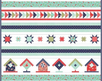 Song Bird Quilt Kit, featuring Early Bird fabric by Bonnie and Camille  for Moda Fabrics (KIT55190) - Includes all the fabric you need!
