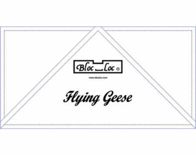 "Bloc Loc - Flying Geese Ruler  6"" x 12"" - Quilting Tool"