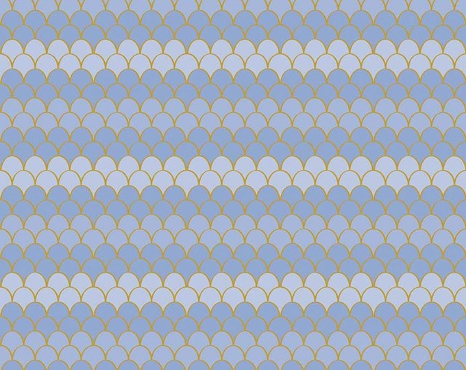Lets Be Mermaids Scallops Periwinkle Sparkle (SC7613-PERIWINKLE) by Melissa Mortenson of Polka Dot Chair