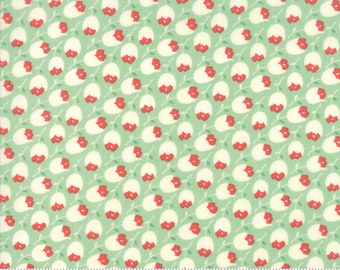 Scarlet and Sage Pond Rosehips by Fig Tree & Co. for Moda (20364 18) - Cut Options Available