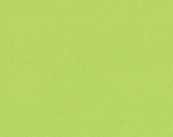 Summer House Lime (9900 173) - Bella Solids fabric Moda Basics