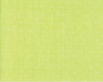Bonnie and Camille Wovens Green Dot for Moda Fabrics  (12405 37) - Green Polka Dot Fabric - Woven Fabric