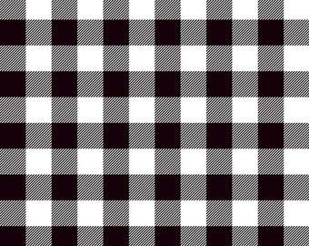 Lumberjack Black Plaid Designer Knit by Riley Blake Designs -  Jersey KNIT Stretch Fabric - Cut options available (K9176-BLACK)