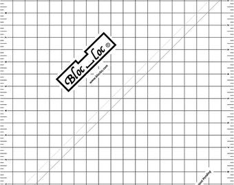 "Bloc-Loc 9.5"" Inch Ruler - Half Square Triangle Ruler - Square Up Ruler for HST - Quilting Tool"
