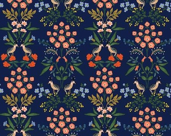 Meadow Navy Luxembourg by Rifle Paper Co. for Cotton and Steel Fabrics (RP200-NA1) - Cut Options Available!