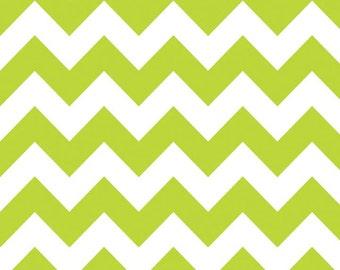 Riley Blake Designs, Medium Chevron in Lime (C320 32)