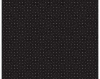 Riley Blake Designs, Swiss Dot in Tone on Tone Black (C710 110)