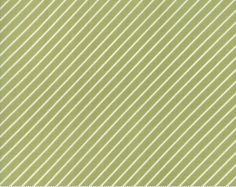 Early Bird Green Stripe by Bonnie & Camille for Moda Fabrics (55196 16) - Cut Options Available