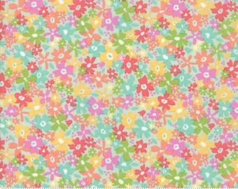 Sunnyside Up Floral Charming Gossamer (Aqua) by Corey Yoder (Little Miss Shabby) for Moda (29052 20)