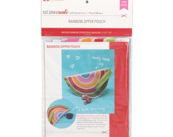 Rainbow Zipper Pouch Cut, Sew, Create Panel by Stacy Iest Hsu - Perfect Sewing Projects for Beginners and Children!