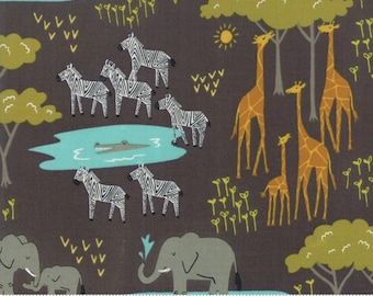 Safari Life Black In the Native by Stacy Iest Hsu for Moda Fabrics  (20643 15) - Animal Fabric - Cut Options Available