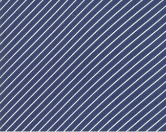 Early Bird Navy Stripe by Bonnie & Camille for Moda Fabrics (55196 15) - Cut Options Available