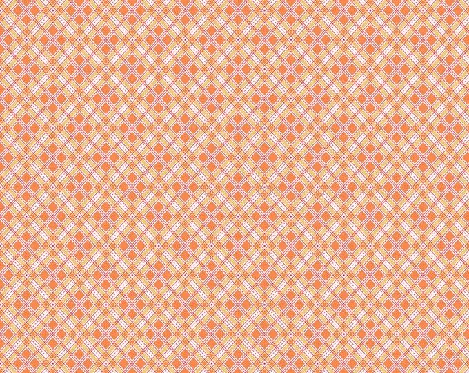 Autumn Love by Lori Holt Plaid Orange (C7364-ORANGE)