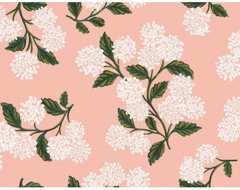 Meadow Blush Hydrangea Lawn Fabric by Rifle Paper Co. for Cotton and Steel Fabrics (RP201-BL5L ) - Cut Options Available!