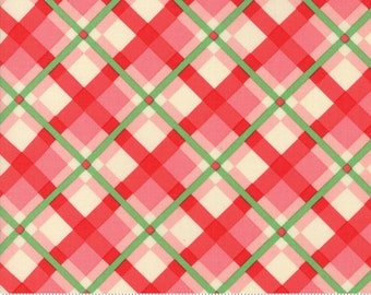 Swell Pink Red Plaid by Urban Chiks for Moda Fabrics  (31122 15)  - Christmas Fabric - Cut Options Available!