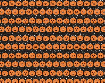 Fab-Boo-Lous Pumpkins - Black (C8173 BLACK) SALE Fab-boo-lous by Dani Mogstad for Riley Blake Designs - Halloween Quilting Fabric