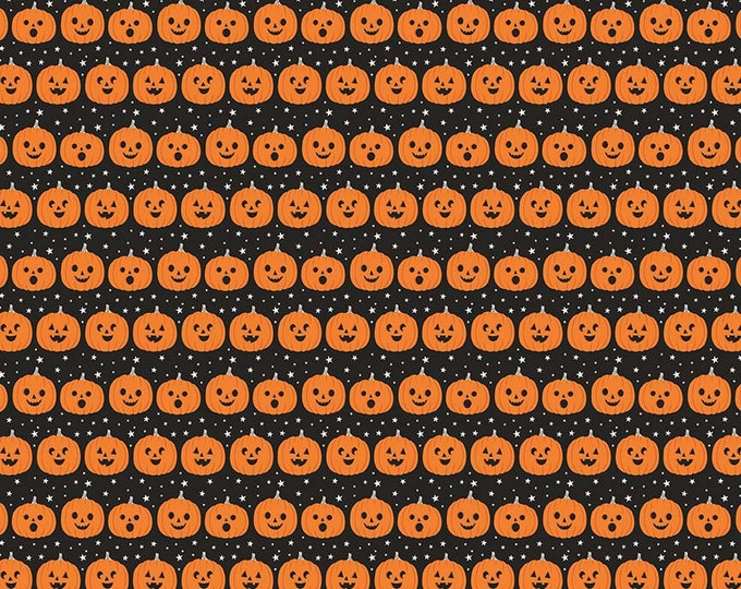 Fab-Boo-Lous Pumpkins - Black (C8173 BLACK) Fab-boo-lous by Dani Mogstad for Riley Blake Designs