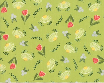 Clover Hollow (37551 14) Leaf Green Flower Daze by Sherri and Chelsi
