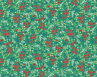 Sugarhouse Park Green Floral Yardage by Amy Smart (Diary of a Quilter) for Riley Blake Designs (C8892-GREEN) Cut Options Available