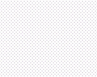 Lavender Swiss Dot On White (C660 LAVENDER) - Swiss Dot Fabric - Cotton Quilting Fabric
