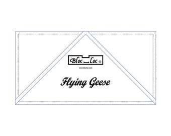 "Bloc Loc - Flying Geese Ruler  4"" x 8"" - Quilting Tool"