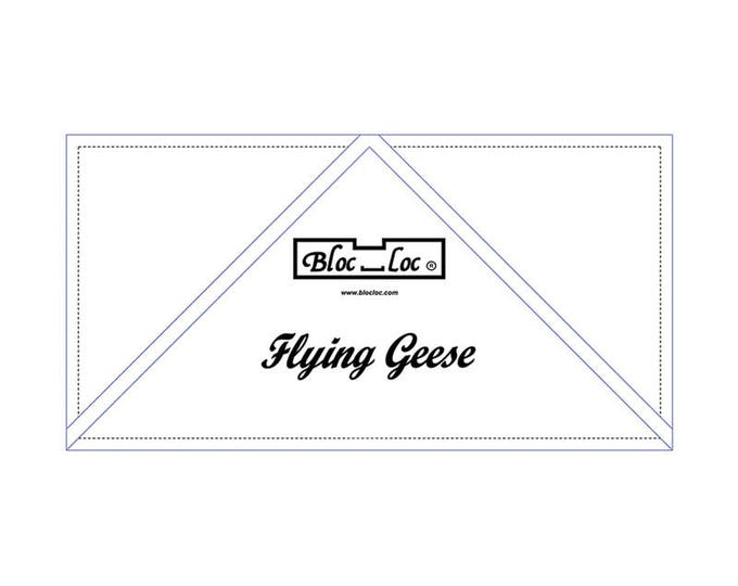 """Bloc Loc - Flying Geese Ruler  4"""" x 8"""" - Quilting Tool"""
