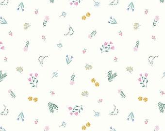 Pemberley Cream Garden by Citrus and Mint Designs for Riley Blake Designs (C8821-CREAM)  - Jane Austen Fabric