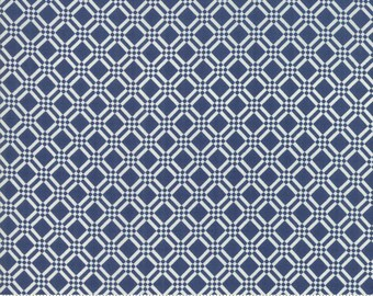 Early Bird Navy Check by Bonnie & Camille for Moda Fabrics (55193 15) - Cut Options Available