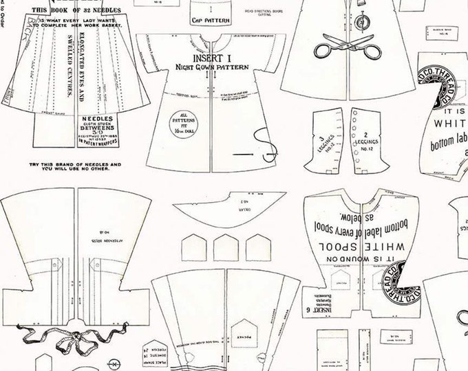 Paperdoll Off White Clothes  (C7568-OFFWHITE) by J. Wecker Frisch of Joy Studio