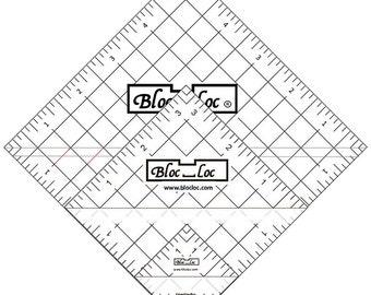 "Half Square Triangle Ruler Set 3 -  Set includes: 1.5"", 3.5"", & 5.5"
