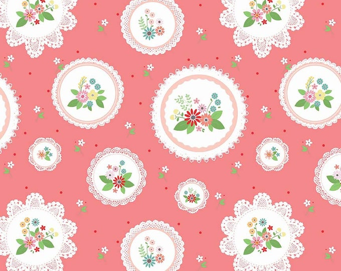 Vintage Keepsakes Main Pink (C7860-PINK) by Beverly McCullough of Flamingo Toes for Riley Blake Designs.