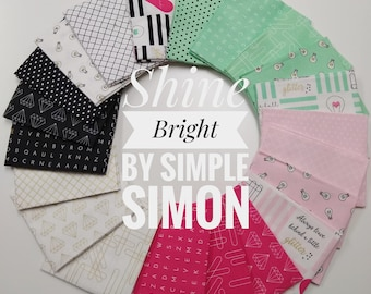 Shine Bright Fat Quarter Bundle by Simple Simon (FQ-6660-21)