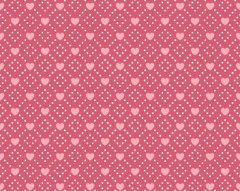 Hello Sweetheart Diamond Pink fabric by Echo Park Paper Co. for Riley Blake Designs (C7622-PINK)