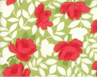 Little Snippets Green Vintage Rose by Bonnie & Camille for Moda Fabrics (55180 14)