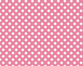 Hot Pink Small Dots by Riley Blake Designs (C350 70) - Polka Dot Fabric