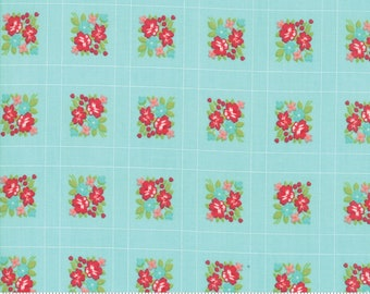 Little Snippets Aqua Forget Me Not by Bonnie & Camille for Moda Fabrics (55187 12)