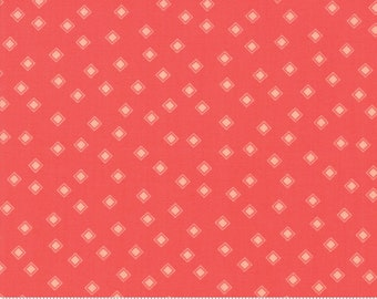 Harper's Garden Geranium Diamonds by Sherri and Chelsi for Moda Fabrics (37577 17) Cut Options Available