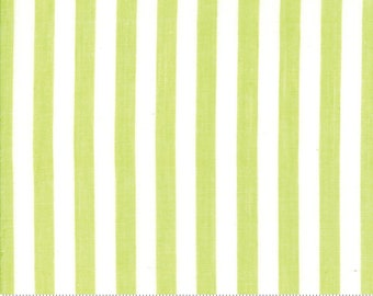 Bonnie and Camille Wovens Green Stripe for Moda Fabrics  (12405 40) - Green Striped Fabric - Woven Fabric