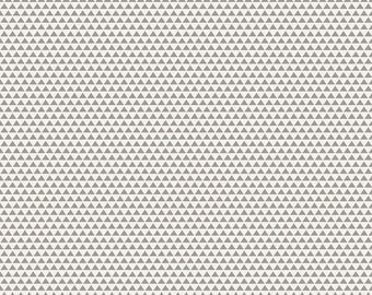 Edie Jane - Triangle - Gray (C8183 GRAY) by Deena Rutter for Riley Blake Designs - Girl Fabric  - Cotton Quilting Fabric