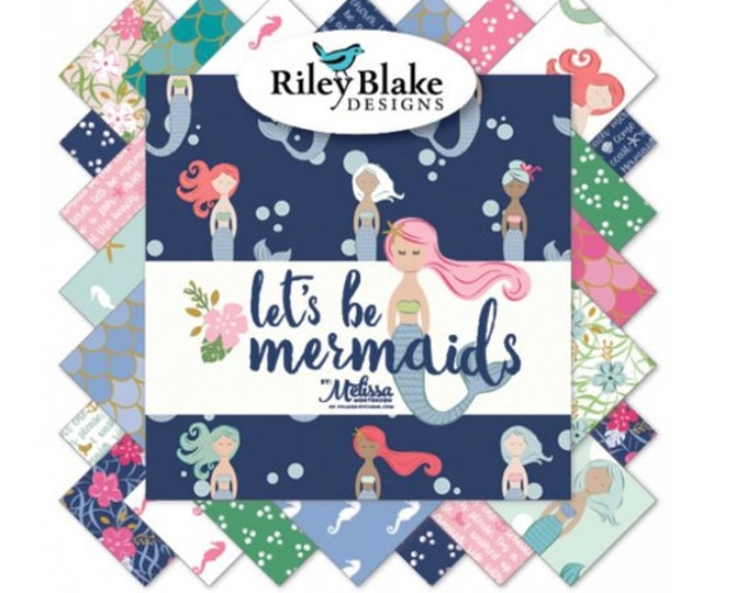 Let's Be Mermaids (18) FQ Bundle by Melissa Mortenson (Polka Dot Chair) for Riley Blake Designs (FQ-7610-18)
