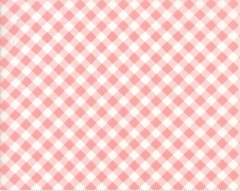 Little Snippets Coral Little Bias Gingham by Bonnie & Camille for Moda Fabrics (55186 13)