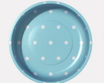 Aqua Polka Dot Magnetic Pin Bowls by Pleasant Home